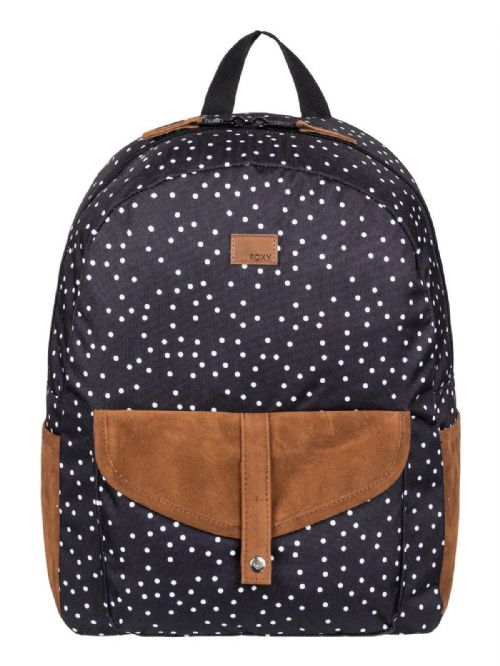 ROXY WOMENS BACKPACK BAG.CARRIBEAN BLACK SPOTTED RUCKSACK.SCHOOL 18L 8W 734 KVJ8